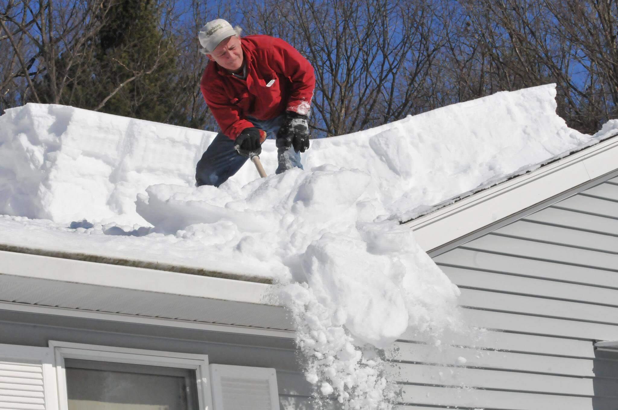 уборка снега с крыши инструменты для уборки осадков с кровли