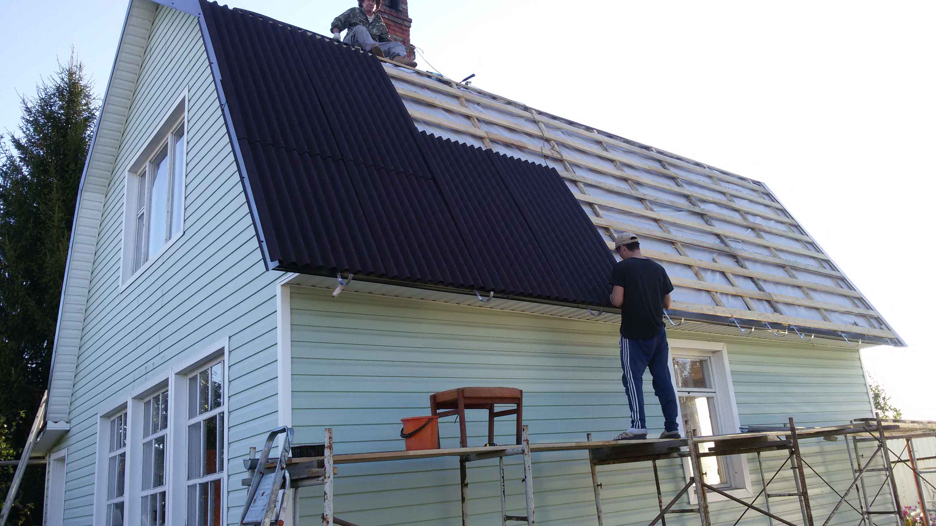 ремонт крыши кровли самостоятельно техника безопасности